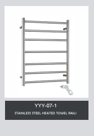 NEW Rose Gold Electric Ladder Heated Towel Rail Warmer for Bathroom