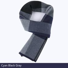 Мужской шерстяной шарф, зимний клетчатый шарф, нагрудник бойфренда, драгоценный подарок, деловой шарф, ТОЛСТЫЙ цветной подарок, теплые шарф...(Китай)