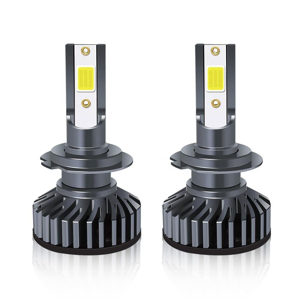 Factory sales F2 automobile LED headlamp cob chip 24W 8000 lumen super bright headlamp high low beam H4 H7 H11 9005 9004 9007