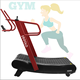 Commercial use curved self-power non-motorized cheap price treadmill spare parts fitness gym equipment walking exercise machine