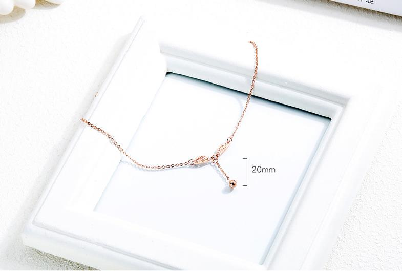 Popular Jewelry Fashion Plated Rose Gold Women 316L Stainless Steel Anklet