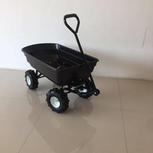 "Removable folding sides platform dolly four 10"" wheel garden wagon"