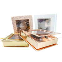 private label custom packaging box natural faux 3d 5d mink lashes premium