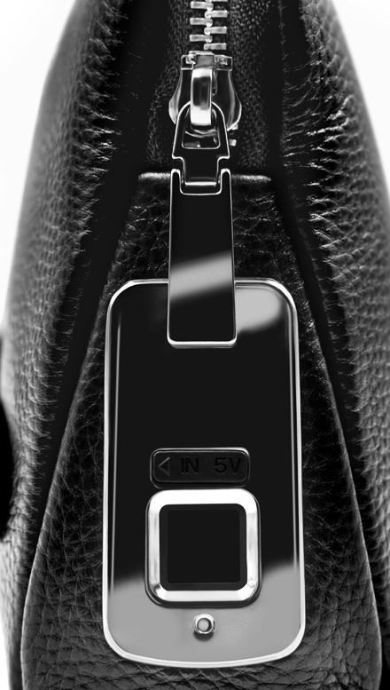 0.5 secondes pour déverrouiller en cuir véritable serrure d'empreinte digitale pour hommes portefeuille pochette sac à main Anti-vol d'empreintes digitales cadenas fournisseur