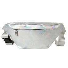 Женская поясная сумка Fanny, лазерная Наплечная нагрудная сумка для путешествий, повседневная поясная сумка для девушек, милая сумка для отды...(Китай)