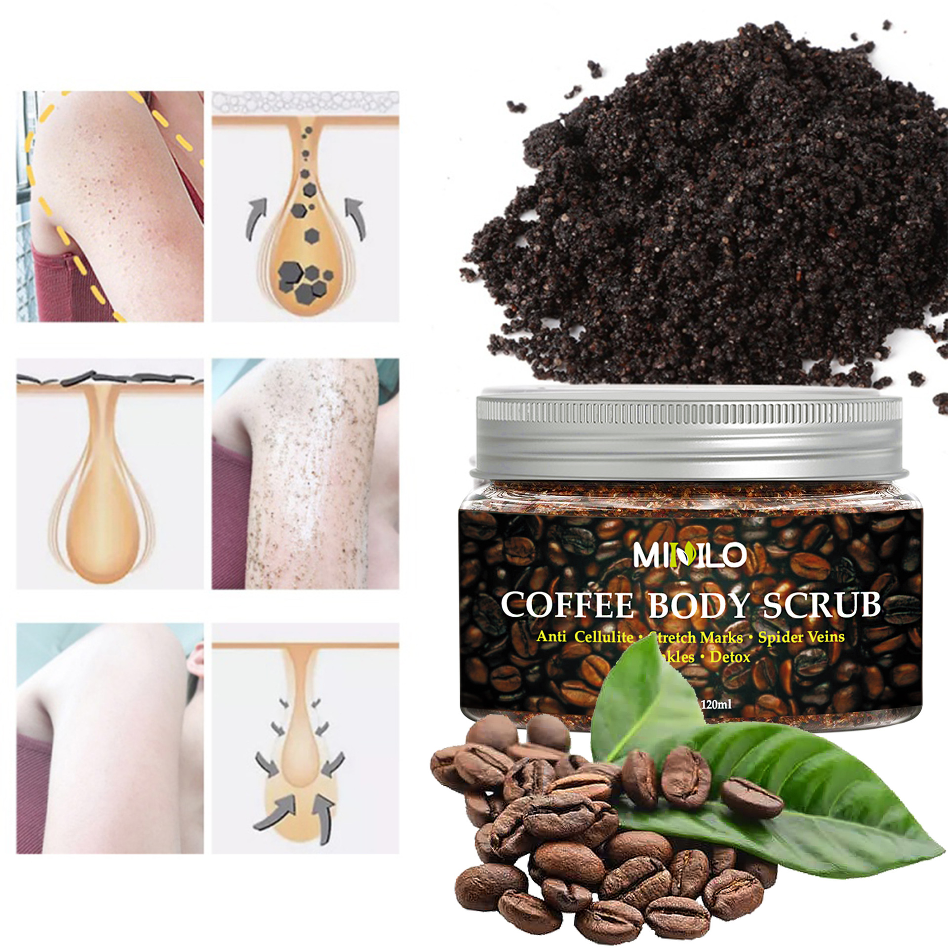 Natural Organic Coffee Scrub Facial Body Exfoliator Amazon Hot Style Whitening Coffee Body Scrub