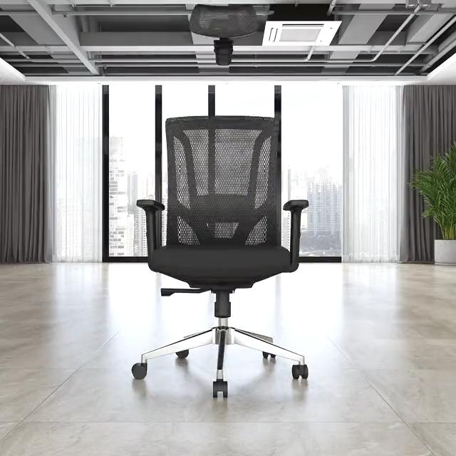 Ergonomis Terbaik Desain Belakang Kursi Kantor Kursi Putar Tinggi Kembali Kursi Jala
