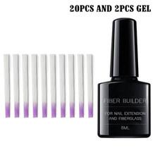 Набор из стекловолокна для наращивания ногтей, сильная адгезия, накладные ногти, домашний салонный инструмент для маникюра, NShopping(Китай)