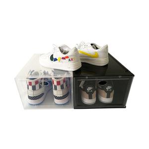 TL5689 clear plastic storage shoe box foldable,shoe packaging box custom