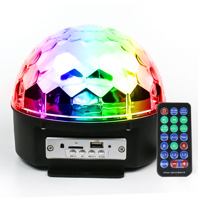 Disco Ball Party Lights, 9 Colors Rotating LED Disco Stage DJ Lights Crystal Magic Light Projector Sound Activated for KTV Xmas