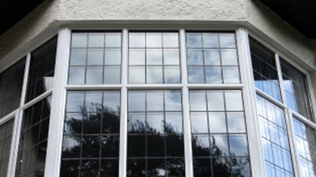 Parrilla de ventana de diseño francés, ventana fija de vidrio templado doble de aluminio