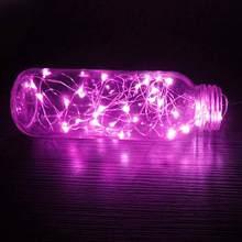 Светодиодный светильник с медной проволокой, 3 метра, 30 светодиодный, на Рождество, на батарейках, на праздник, свадьбу, вечеринку, Декор, Пря...(Китай)