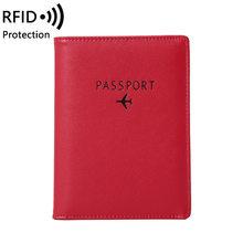 Rfid дорожный органайзер для паспорта из искусственной кожи, чехол для карт, защитный чехол-кошелек(Китай)