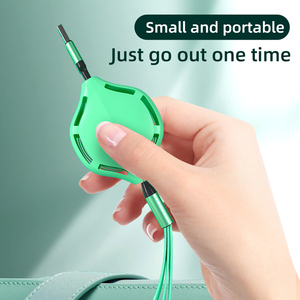New design 2020 Multi Usb Charger Cable Retractable 3 In 1 Multiple Charging Cord 3 In 1 Charger flat Cable