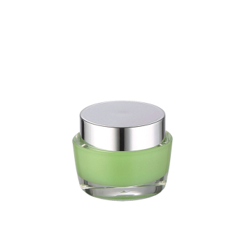 cosmetic packaging 15g double wall acrylic cream jar with aluminum lid
