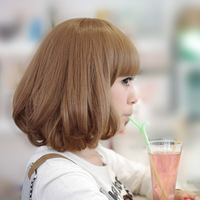 New Design Women Fashion Blonde Human Hair Wig Short Curly Bob Human Hair Wig