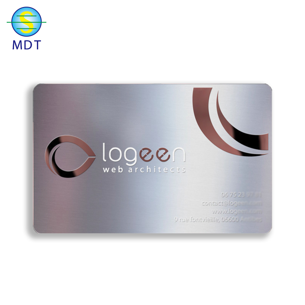 Mdt O  custom Metal gift cards name card metal promotion