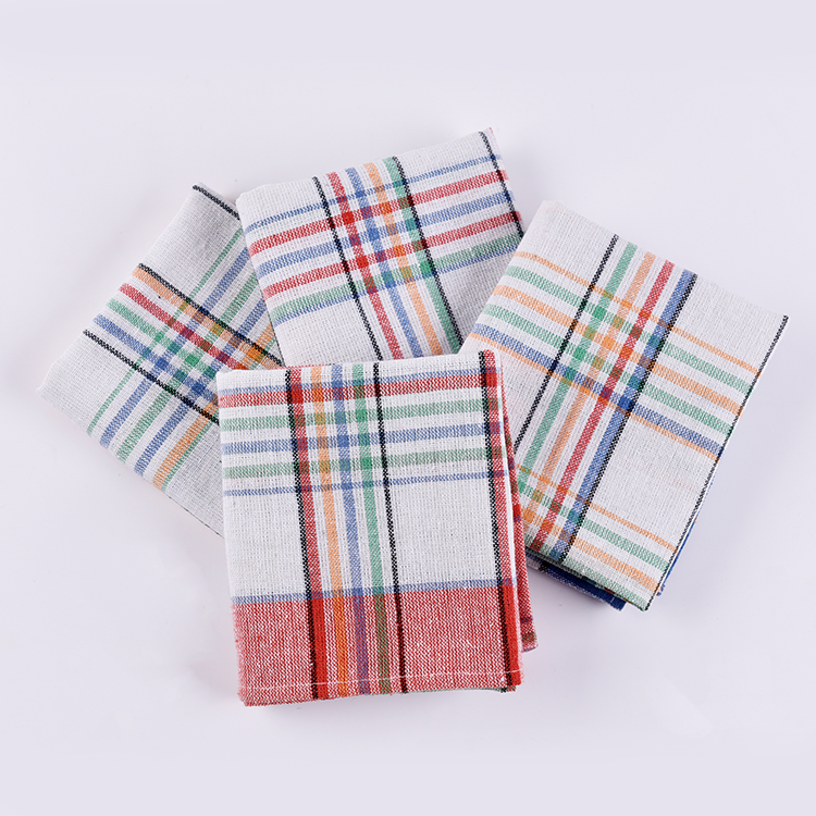English-Tea-Towels Kitchen 100% Cotton Tea Towels Pano De Prato Cotton Cleaning Dish Cup Cloth Cotton Tea Towel