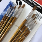 Professional Synthetic Nylon Wood Handle Detail Artist Paint Brush For Artist