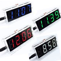 A2-- DIY Kit Red LED Electronic Clock Microcontroller Digital Clock Time Thermometer diy electronic kit