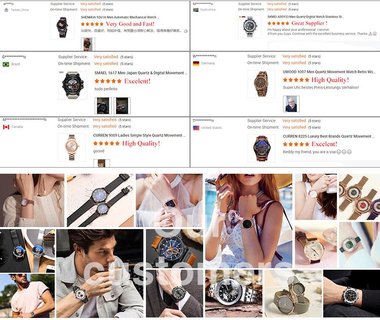 SMAEL 9125 クオーツアナログ腕時計軍事防水腕時計男性の革の腕時計