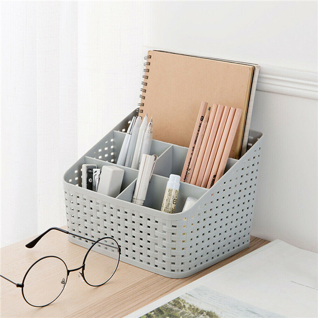 Countertop Office Makeup  Jewelry Box Cosmetic Storage Organiser Basket