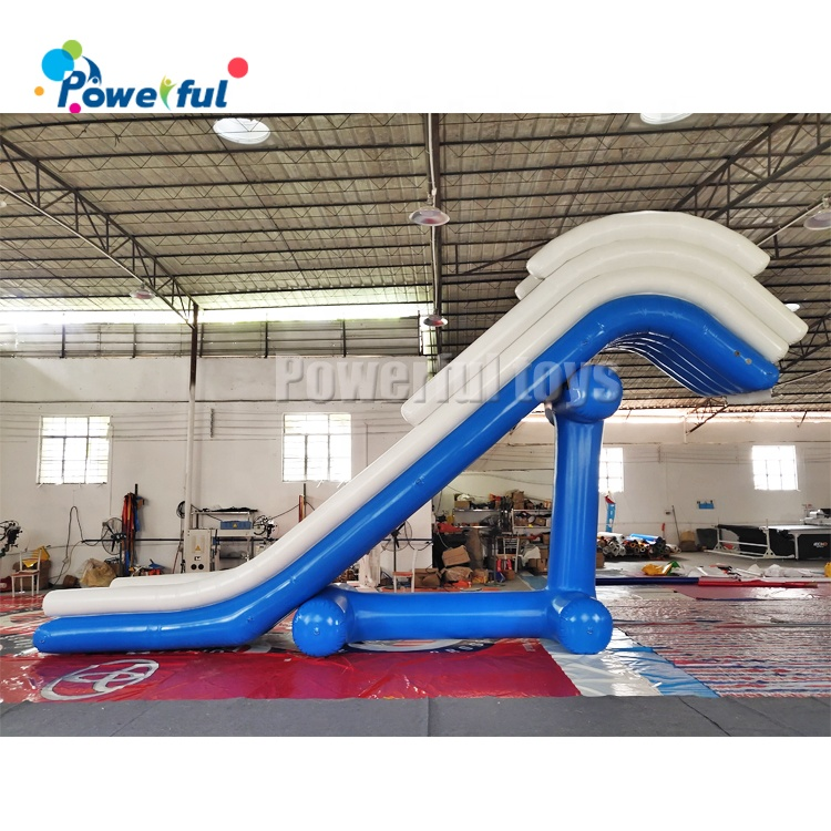 High quality inflatable yacht luxury houseboat slide inflatable water floating dock slide for sale