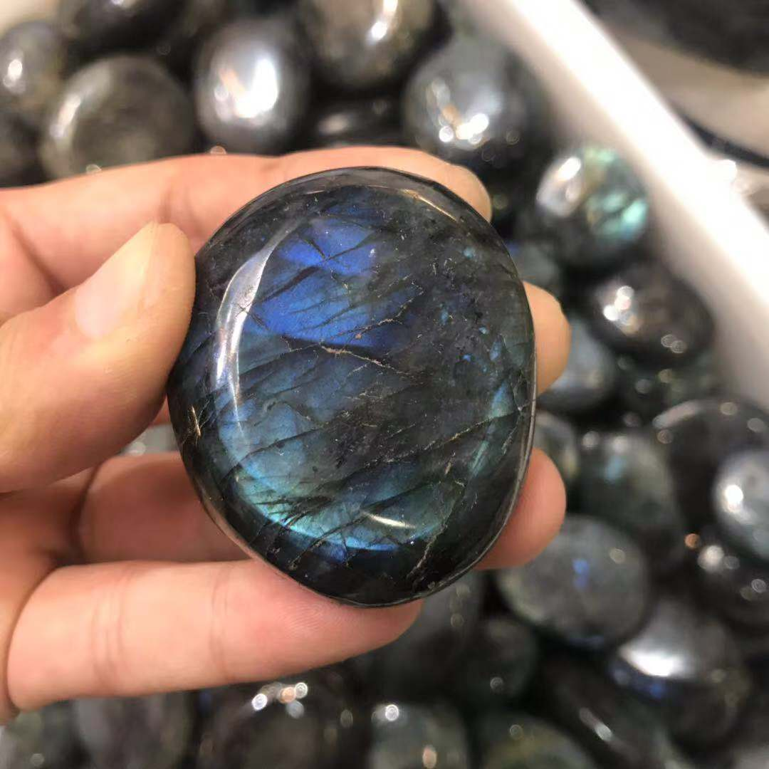 Wholesale natural quartz labradorite polished semi precious crystal tumbled stones healing