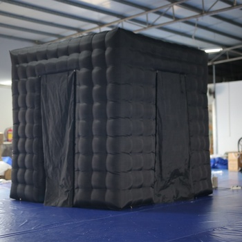 Hot selling black cube led inflatable photo booth enclosure
