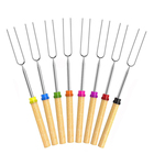 Wholesale Premium Marshmallow Roasting Sticks Skewers Hot Dog Fork 80cm Rotating BBQ Telescoping Sticks