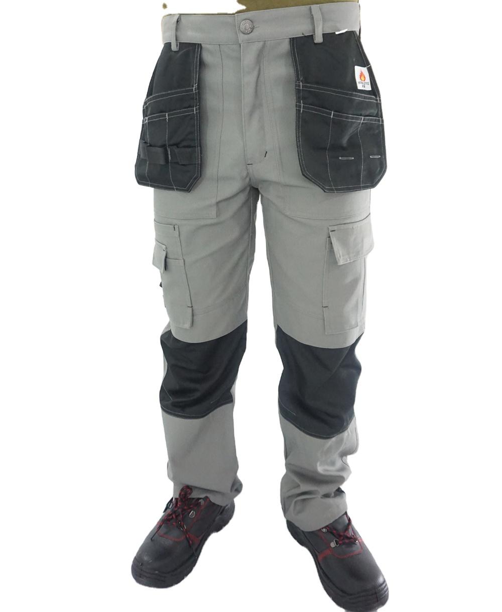 2020 großhandel Europäischen mechaniker industrie 6 Tasche bau hosen arbeit Nach Cargo Hosen Männer