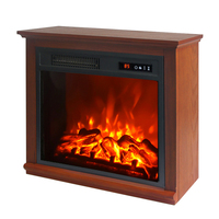 freestanding artificial fire Electric Fireplace With Mantel table heater