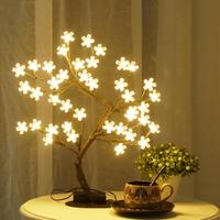 Bolylight LED Cherry Blossom Tree Light artificial christmas tree Christmas Decorations for Desk/Bedroom