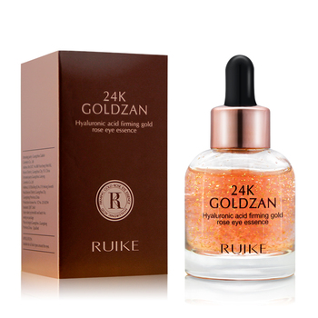 Your private label hydrating repairing anti-wrinkle 24K gold rose under eye firming serum