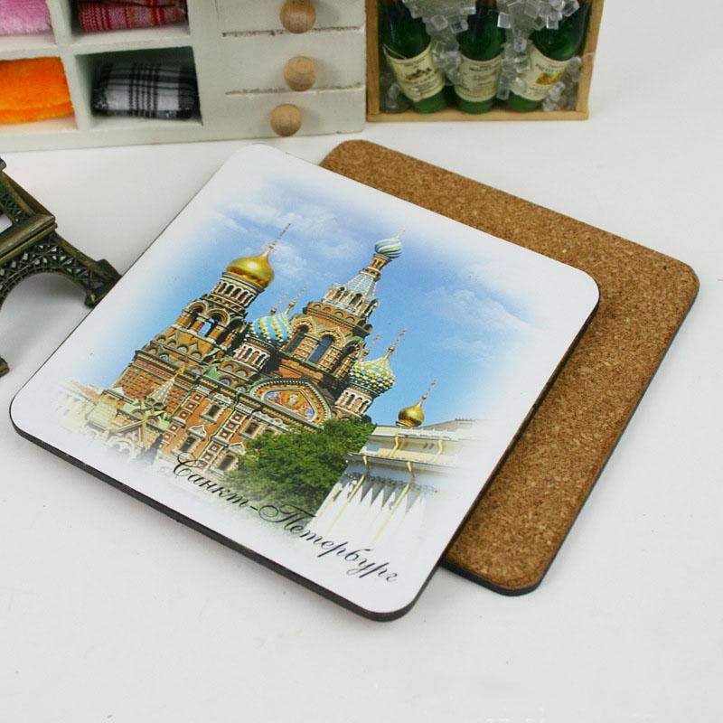 Personalizado Coaster placemats Cortiça e Coaster 9*9 centímetros Quadrados