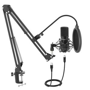 Fifine Professional Condenser Mic Computer Broadcast Streaming Microphone Kit For Recording