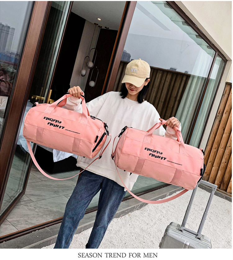 Black Pink Holdall Wet Dry Pocket Waterproof Men Women Sports Custom Logo Gym Bag with Shoe Compartment