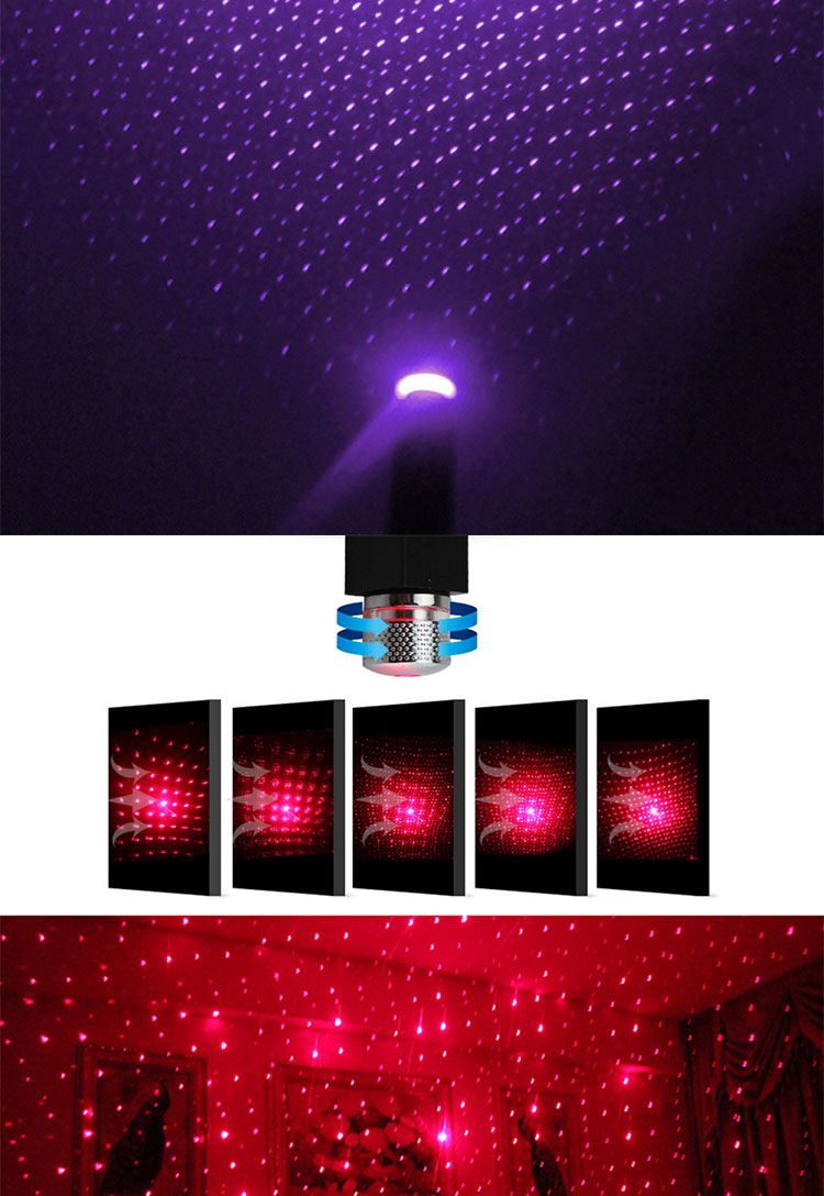 Led Auto Dak Star Night Light Projector Sfeer Galaxy Lamp Usb Decoratieve Lamp Verstelbare Meerdere Lichteffecten