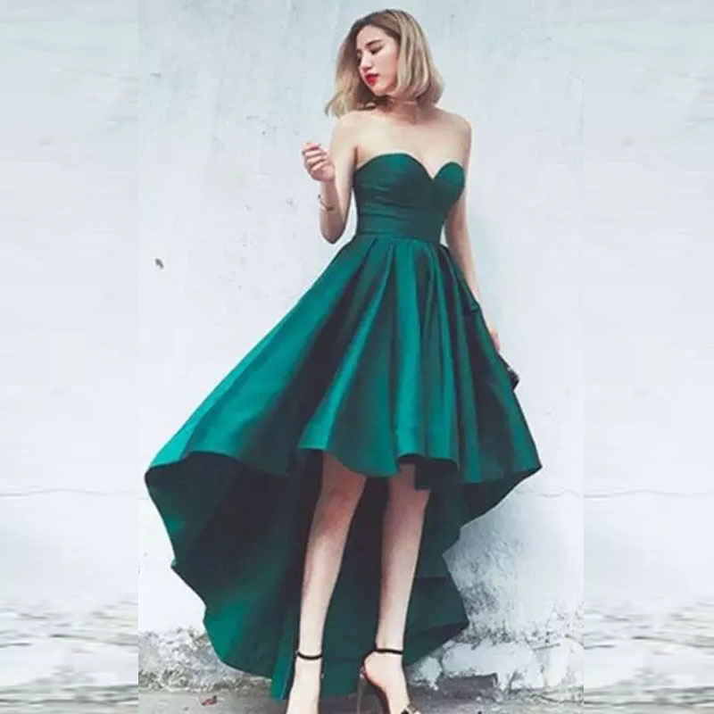 prom short front long back dress