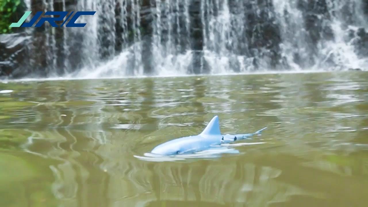 Coolerstuff 2.4g 4ch simülasyon su geçirmez uzaktan kumanda köpekbalığı oyuncak bebek şamandıra yüzme havuzu köpekbalığı balık uzaktan kumanda oyunları