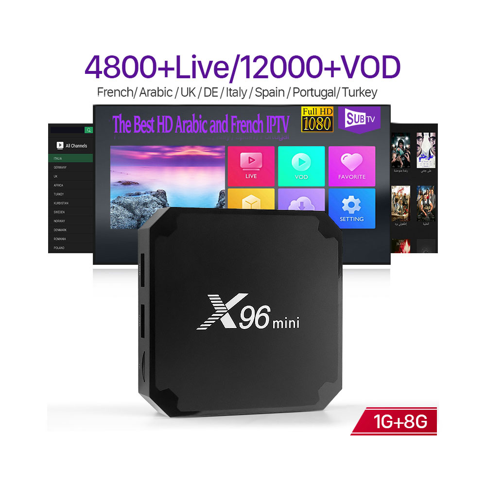 X96 MINI Board TV Box Android 7.1 4K Stable IPTV Box 1G+8G with 1 Year SUBTV, N/a