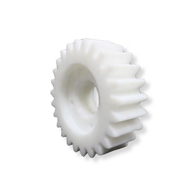 Personalizado de tamaño estándar de gran diámetro 100mm 5mm de nylon spur engranajes de plástico