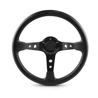 Universal Aluminum 14 Inch 350Mm Pu Leather Car Racing Sport Drifting Steering Wheel