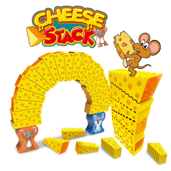 Funny Cheese Stacks Toys Board Game Educational Toys for Preschool Kids