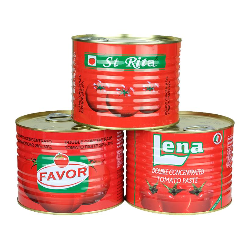 缶詰高新鮮品質錫トマトペーストメーカー2200g