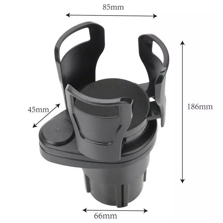Car Cup Holder Expander Adapter Organizer with Adjustable Base