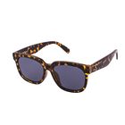 LJ152-1 Leopard Print Wide Temple Glasses Sunglasses Sun Shade Spectacles