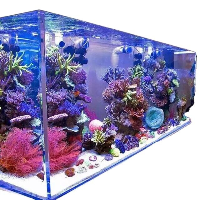 PG de estilo de lujo protección uv del tanque de peces de acrílico cuadrado acuario