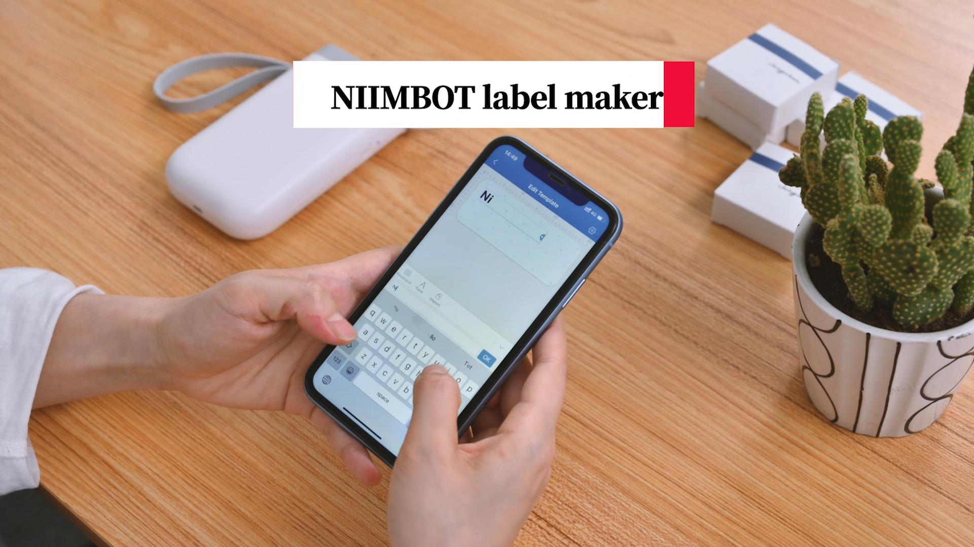 NiiMbot Mesin Printer Label Cerdas, Mesin Printer Label Cerdas Portabel Terhubung dengan Mini