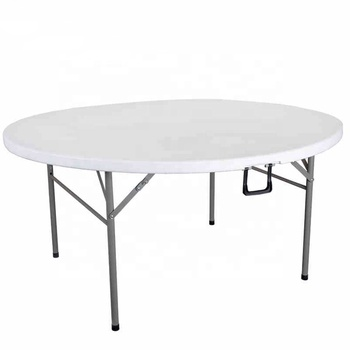 Plastic Folding table round used for banquet outdoor wedding folding tables 6 ft table chairs